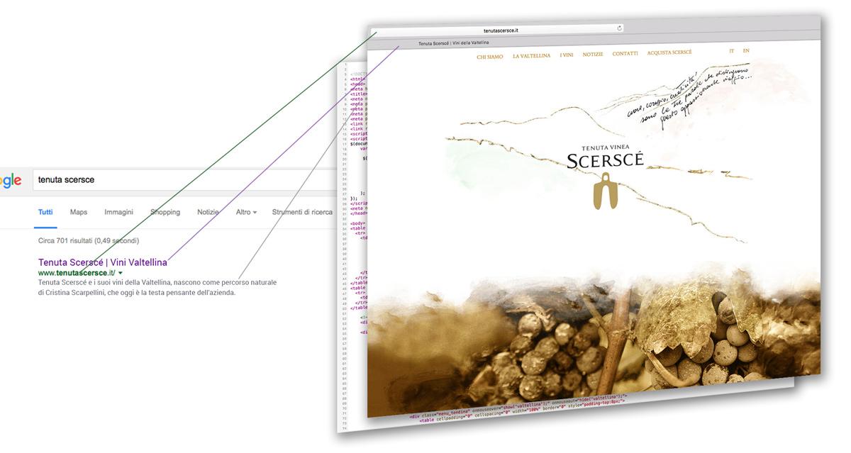 Analisi Home page sito Tenuta Scersce