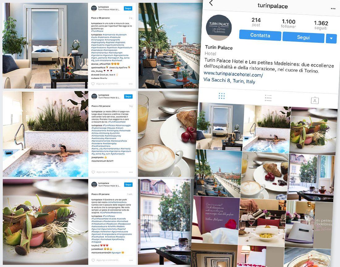 Social Media Strategy per Turin Palace Hotel & Les Petites Madeleins Instragram